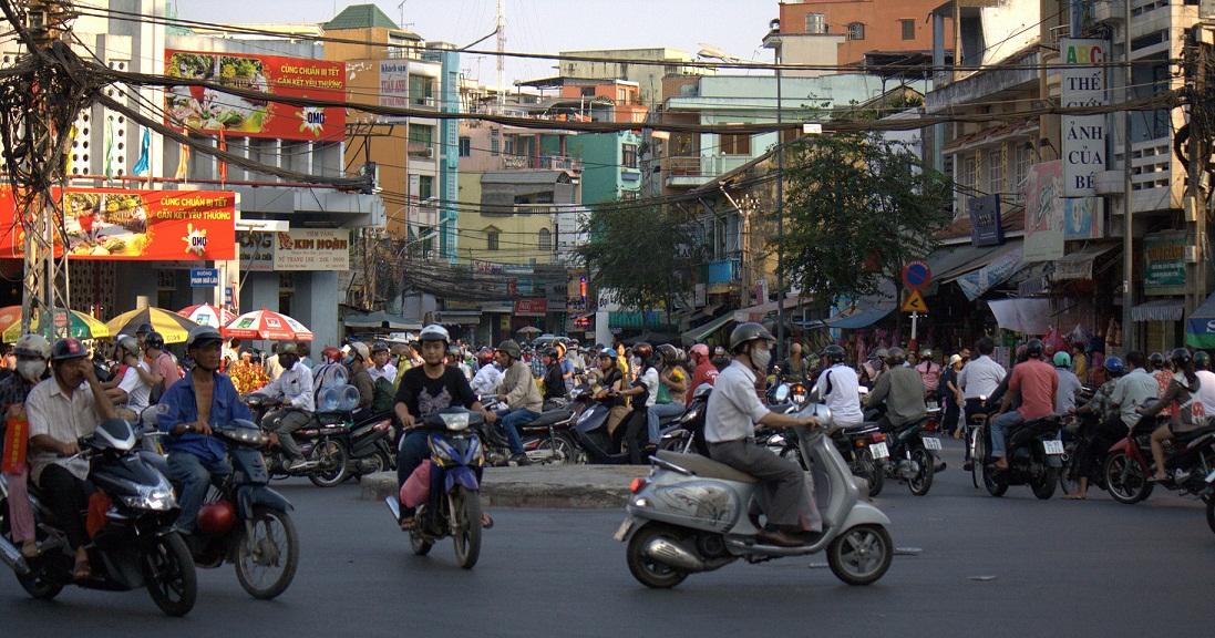 Il traffico di Ho Chi Minh City