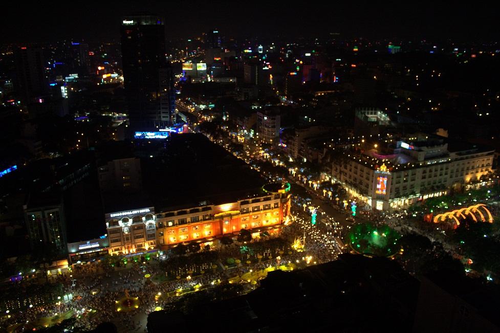 Ho Chi Minh City vista dall'alto, al 23simo piano dello Sheraton